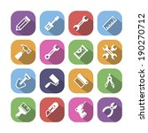 colored tools icons with shadow ... | Shutterstock .eps vector #190270712