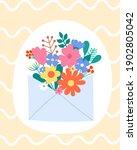 vector spring greeting card... | Shutterstock .eps vector #1902805042