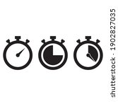 stopwatch vector icon. timer... | Shutterstock .eps vector #1902827035