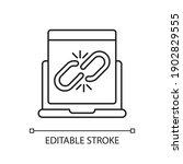 broken link linear icon....   Shutterstock .eps vector #1902829555