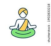 mahatma gandhi rgb color icon....   Shutterstock .eps vector #1902833218