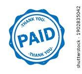Paid Grunge Rubber Stamp...
