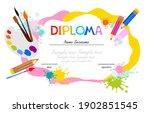 template of children award...   Shutterstock .eps vector #1902851545