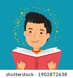 child reading a book. school... | Shutterstock .eps vector #1902872638