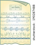 vintage ornaments and dividers  | Shutterstock .eps vector #190287488