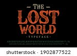font the lost world. craft... | Shutterstock .eps vector #1902877522