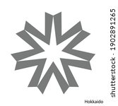 coat of arms of hokkaido is a... | Shutterstock .eps vector #1902891265