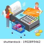 pos terminal confirms the... | Shutterstock .eps vector #1902895462