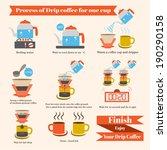 process of drip coffee  vector...   Shutterstock .eps vector #190290158