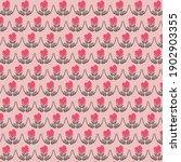 pink heart in hands pattern.... | Shutterstock .eps vector #1902903355