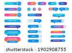 set of vector buttons for...