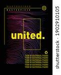 gradient wave with slogan... | Shutterstock .eps vector #1902910105