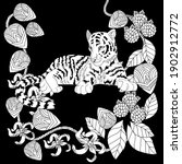 art therapy coloring page.... | Shutterstock .eps vector #1902912772
