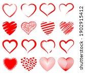 set of heart illustrations ... | Shutterstock .eps vector #1902915412