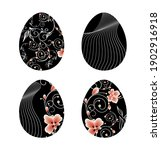 a set of four easter eggs in... | Shutterstock .eps vector #1902916918