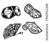 isolated carnival masks. vector.... | Shutterstock .eps vector #1902921268