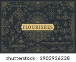 flourishes calligraphic vintage ... | Shutterstock .eps vector #1902936238