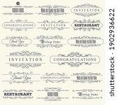 calligraphic design elements.... | Shutterstock .eps vector #1902936622
