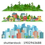 nature  suburban landscape and... | Shutterstock .eps vector #1902963688