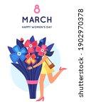 8 march. international women's... | Shutterstock .eps vector #1902970378