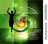 marathon race  vector | Shutterstock .eps vector #190298006
