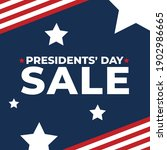 presidents' day sale event...   Shutterstock .eps vector #1902986665