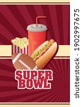 super bowl lettering with... | Shutterstock .eps vector #1902997675