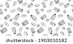 seamless pattern vector icon... | Shutterstock .eps vector #1903010182