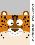 Cheerful Plain Jaguar Head With ...