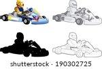 go cart carting racing race... | Shutterstock .eps vector #190302725