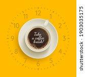 take a coffee break banner.... | Shutterstock .eps vector #1903035175