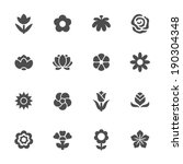 Stock vector flower icon set 190304348