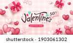 valentine's day sale poster or... | Shutterstock .eps vector #1903061302