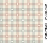 Gingham Pattern. Floral Tartan...