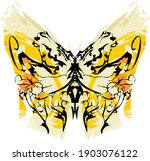 grunge butterfly wings with... | Shutterstock .eps vector #1903076122