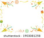 corner frame of yellow and... | Shutterstock .eps vector #1903081258