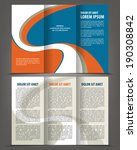 vector empty trifold brochure... | Shutterstock .eps vector #190308842