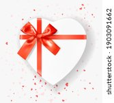 heart shaped white gift box... | Shutterstock .eps vector #1903091662