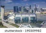 Landscape Of Singapore City...