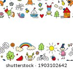 happy children in summer park....   Shutterstock .eps vector #1903102642
