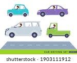 a set of women driving a car... | Shutterstock .eps vector #1903111912