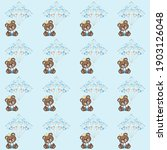 cute bear seamless pattern. can ... | Shutterstock .eps vector #1903126048