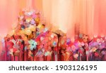 abstract colorful oil  acrylic... | Shutterstock . vector #1903126195