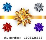 set of realistic shiny vector... | Shutterstock .eps vector #1903126888
