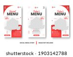 food menu banner social media... | Shutterstock .eps vector #1903142788