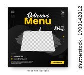 food menu banner social media... | Shutterstock .eps vector #1903142812