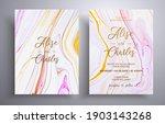 set of acrylic wedding... | Shutterstock .eps vector #1903143268
