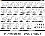 black and white cartoon... | Shutterstock .eps vector #1903175875