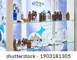 laboratory glass dishes ...   Shutterstock . vector #1903181305