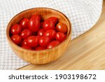 Tomato In Bowl And Apron On...